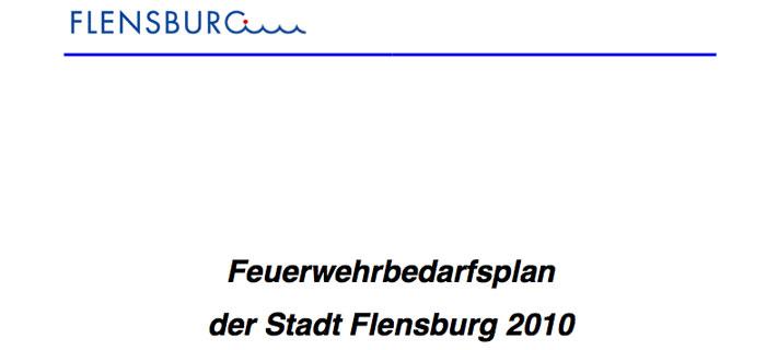 Feuerwehrbedarfsplanung für Flensburg