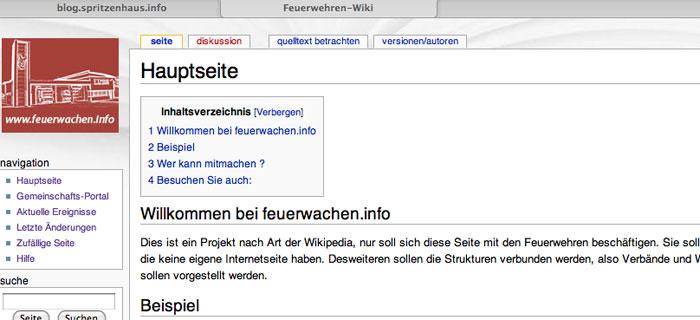 Hilfe für das Feuerwehren-Wiki gesucht !