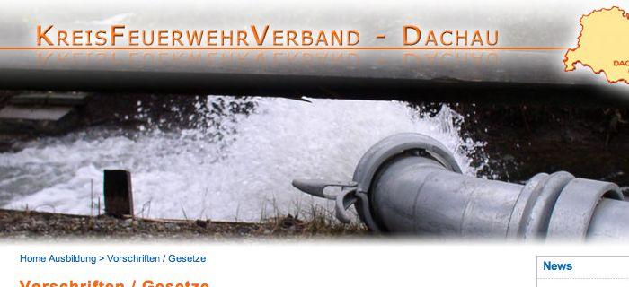 Webseiten vorgestellt: Kreisfeuerwehrverband Dachau