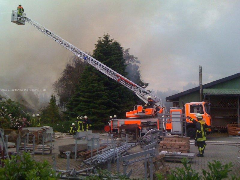 Brennt Reetdachhaus in Sieverstedt (Kreis SL)