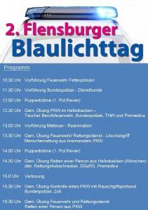 Plakat 2. Flensburger Blaulichttag