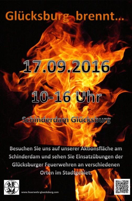 Plakat zum Tag der offenen Tür der FF Glücksburg