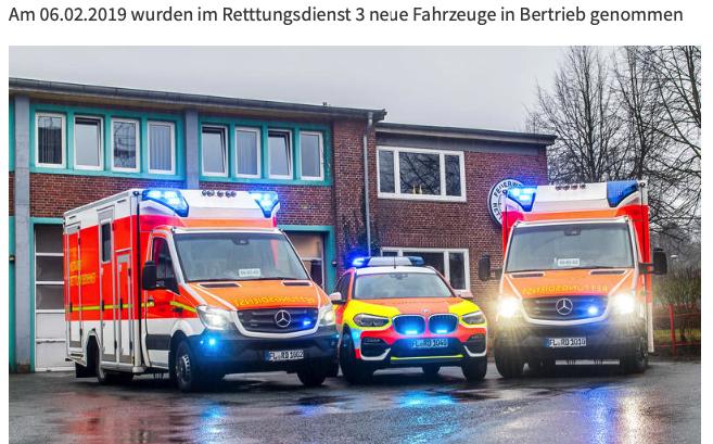 BF Flensburg stellt neue Rettungsdienstfahrzeuge in Dienst